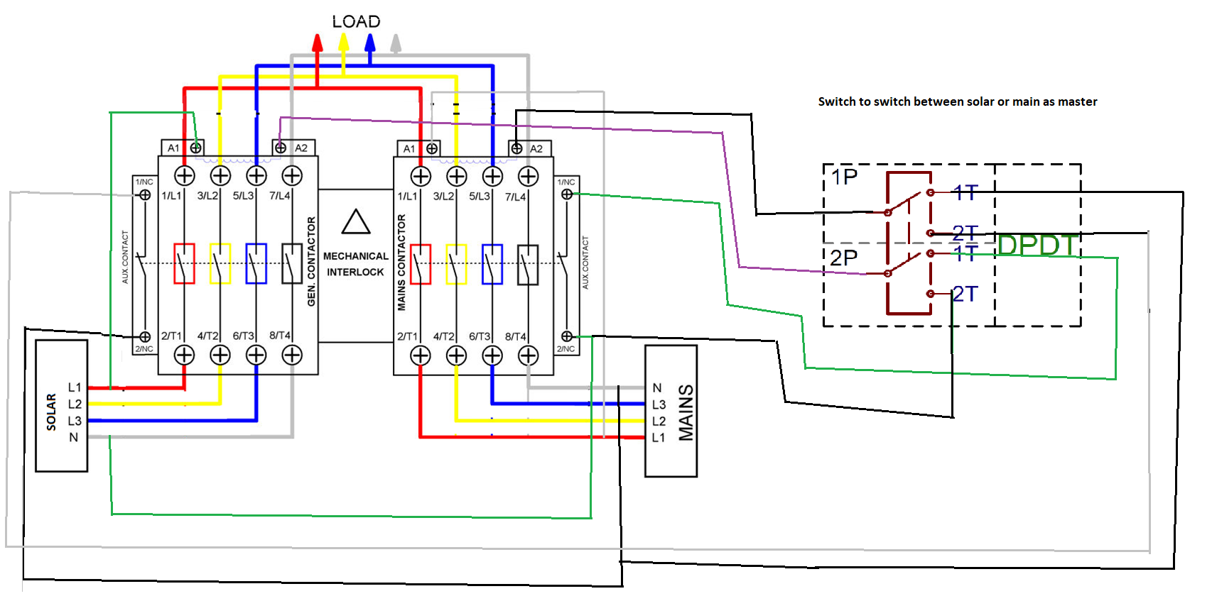 switching an schematic wiring diagram  | 350 x 242